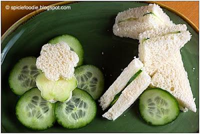 cucumber and tea sandwich