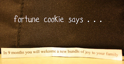Are you expecting? Want to surprise him with the news? This fortune cookie pregnancy announcement is something he will never forget! | adayinmollywood.com
