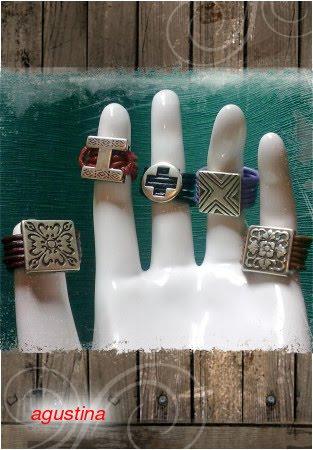 anillos de cuero