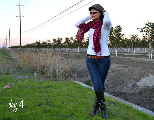 office fashion blogger work from home day skinny jeans flat brown franco sarto boots scarf justice for girls swapped hat sunglasses target