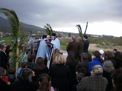 Η τελετή του αγιασμού των υδάτων στη λίμνη Αμβρακία