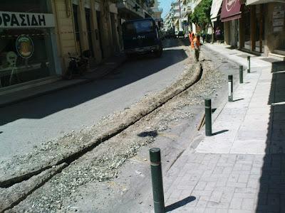 Εργασιες για το ευρυζωνικό δίκτυο σε κεντρικούς δρόμους.