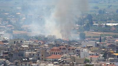 Εικόνες από τη σημερινή φωτιά έξω από το Αγρίνιο