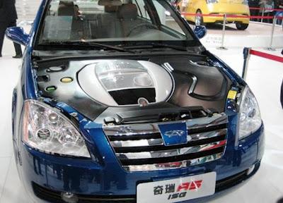 Китайский гибридный автомобиль Chery A5 ISG