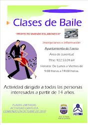 CLASES DE BAILE COMIENZO EN OCTUBRE LUGAR: ANTIGUO AYUNTAMIENTO