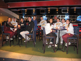 Team relaxing at Citizens Bank Park