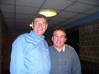 Former Mile World Record holder and present Kansas Congressman Jim Ryun and Rams Coach Jack Heath
