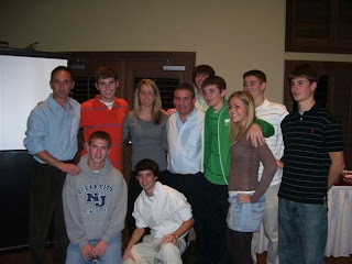 Terence, center, in back row, with fellow GCHS cross country seniors and Villanova Coach and Olympian Marcus O'Sullivan