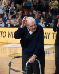 Jack honored in front of 19,000 fans at a Villanova Syracuse basketball game for his National Coaches Hall of Fame induction
