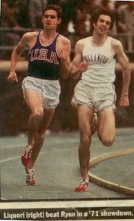 Jim Ryun and Marty Liquori battle in Dream Mile at Penn