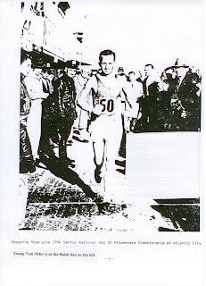 Young Tom Osler at the Finish as Browning Ross wins National 30 kilometer Championship