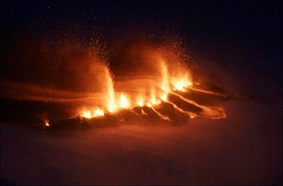 Volcano in Iceland - Eruption photos