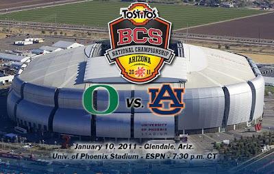 BCS Championship Game Time Live Updates, Auburn Tigers vs Oregon Ducks 2011, BCS National Championship 2011