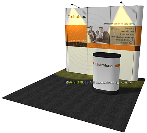 Pop up portable displays design