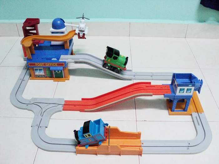 Thomas and friends post office train set up