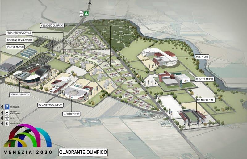 venezia 2020, olimpiadi, quadrante arena
