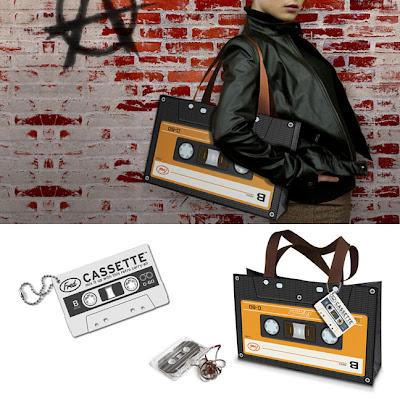 cassette tape bag, borsa a forma di cassetta, cassette tote