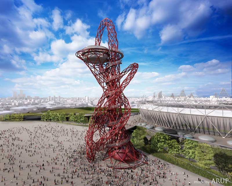 arcelormittal orbit tower, londra