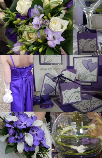 The table decorations were simple but effective using white calla lilies