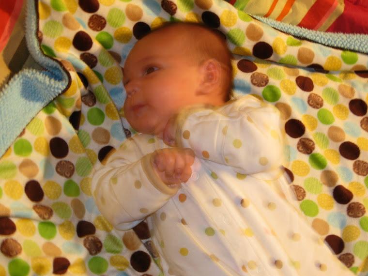 Precious little scrunchie love...Kaden