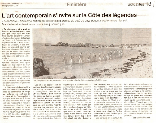 Article Ouest-France 2008