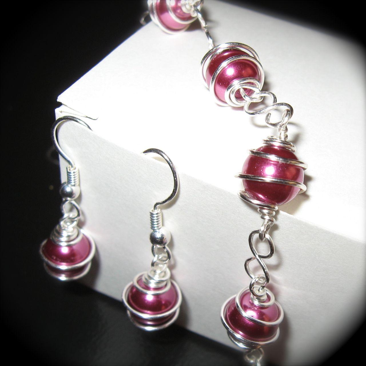 generally creative wire wrapped bead jewelry earrings