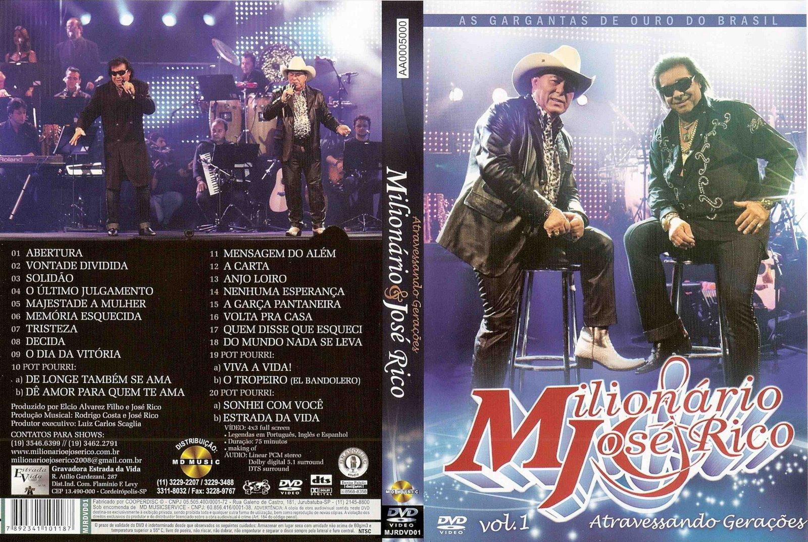 Milionário e José Rico Atravessando Gerações DVD-R + Discografia Milion C3 A1rio 2B 26 2BJos C3 A9 2BRico 2B  2BAtravessando 2BGera C3 A7 C3 B5es 2B  2BVol