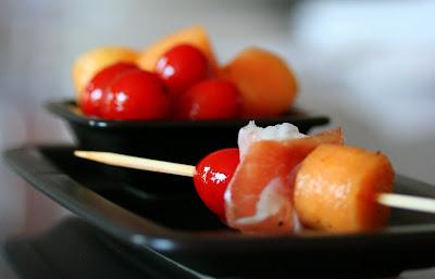 prosciutto, melone, primosale, pomodorino, pic nic, finger food