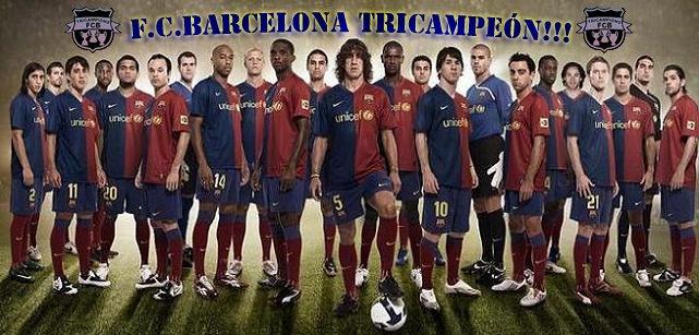 F.C.BARCELONA TRICAMPEÓN!!!