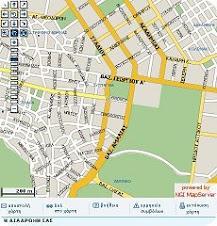 Χάρτης δρόμων-αθλητικών χώρων