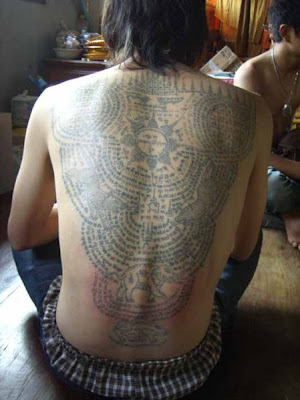 tattoos which were believed to bless the soldiers with special, magic