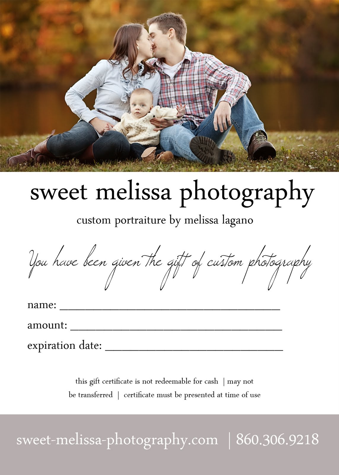 Holiday Gift Ideas- gift certificates Photography Gift Certificate Ideas