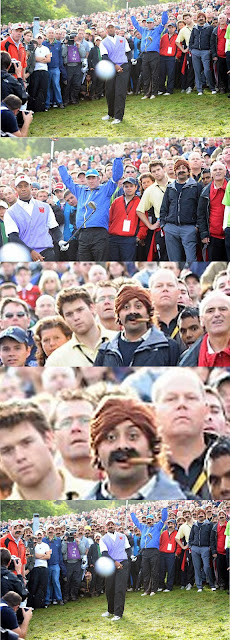 Cigar Guy from Ryder Cup Tiger Woods Photo
