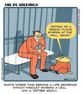 A funny cartoon about Twitter in prison. Not that relevant to engineering PR really, but still funny.