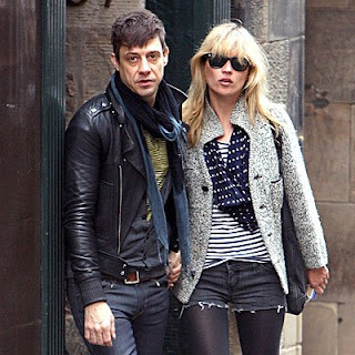 Kate Moss and boyfriend Jamie Hince.