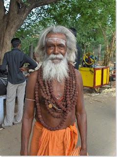 Sadhu in saffron