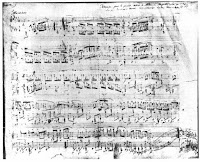Autograph of the Polonaise in Ab Major Op.53 (Heroic) - (Beginning)