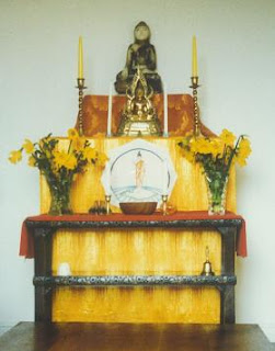 Altar in the Vihara shrine room