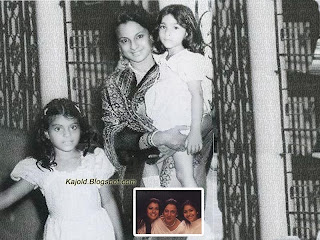 kajol with sister tanisha and mother tanuja : topchild.blogspot.com Indian top stars childhood teen age and marriage photos