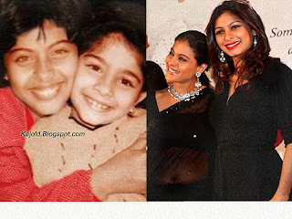 kajol with sister tanisha: kajold.blogspot.com Indian top stars childhood teen age and marriage photos