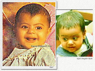 kajol and kajol daughter nysha: kajold.blogspot.com Indian top stars childhood teen age and marriage photos