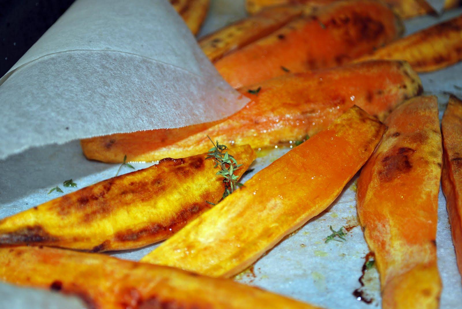 ... : Grilled Chicken & Asparagus with roasted Kumara & Creme Fraiche