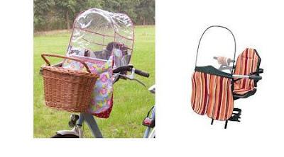 protezione pioggia e seggiolino bici per bambino