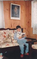Niño lector..., en Río Grande, Tierra del Fuego, 1989