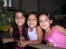 Minhas netas Chandra, Júlia e Bruna