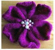 Knitted Flower Pattern 1