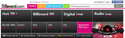 Billboard.com New Page Header