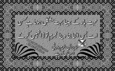 Urdu Mohsin Poetry