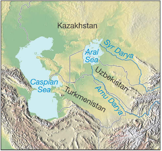 the aral sea The aral sea was an endorheic lake lying between kazakhstan in the north and uzbekistan in the south the name roughly translates as sea of islands, referr.