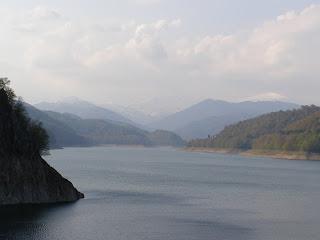 Peisaj barajul Vidraru